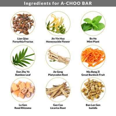 Ingredients for Achoo Bar 1
