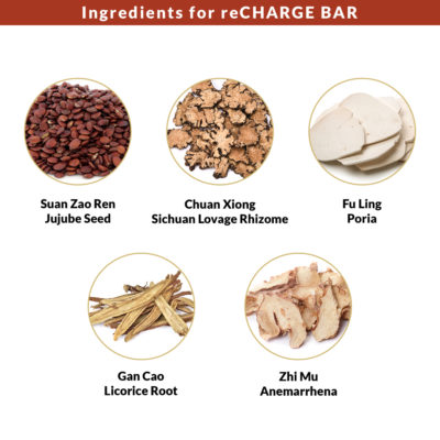 Ingredients for reCharge Bar 1